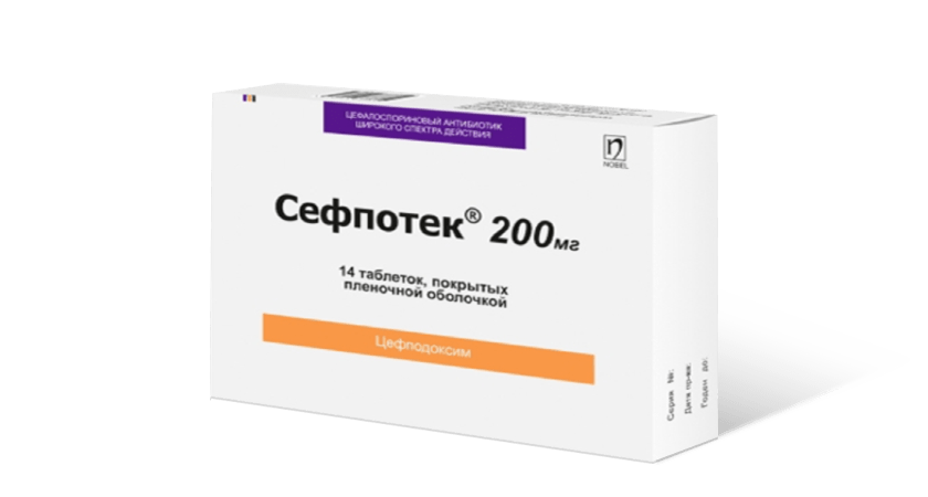 Sefpotec 200mg 14 Tablet